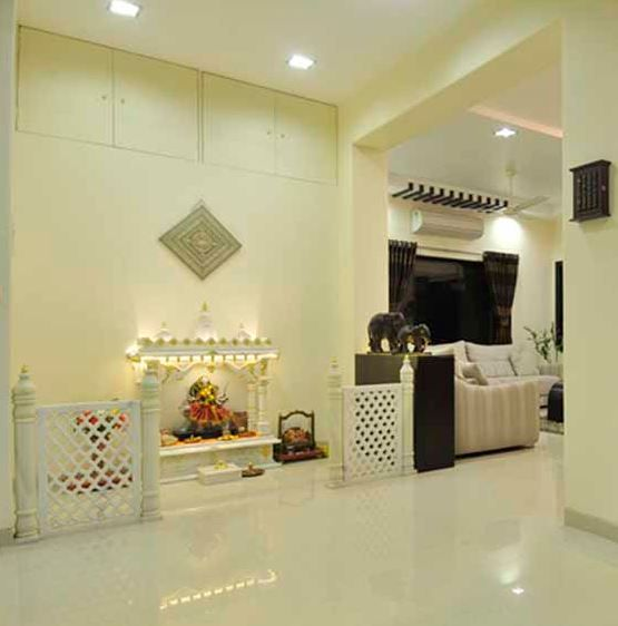 Pooja Room Designs in Hall - Pooja Room | Design for home, Home ...