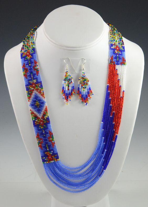 Navajo Beaded Necklace, Rena Charles, Navajo Necklace, Sedona Indian Jewelry, Sedona Native American Jewelry, Sedona Indian Art, Oak Creek Canyon
