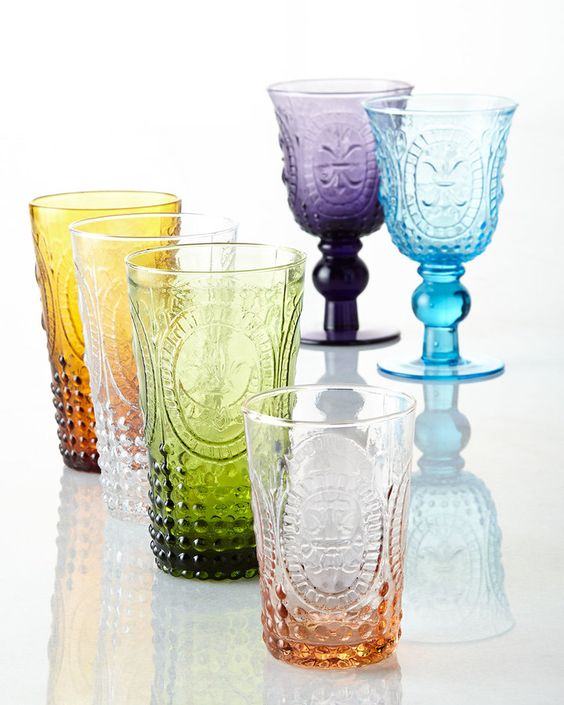 Renaissance Glassware, With this festive glassware on hand, you're ready for any occasion. Handmade one at a time by skilled artisans, each glass in this collection features an attractive fleur-de-lis pattern.