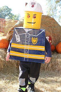 Lego firefighter costume