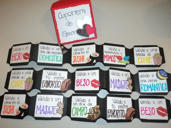 Coupons: such a cute idea for anniversary