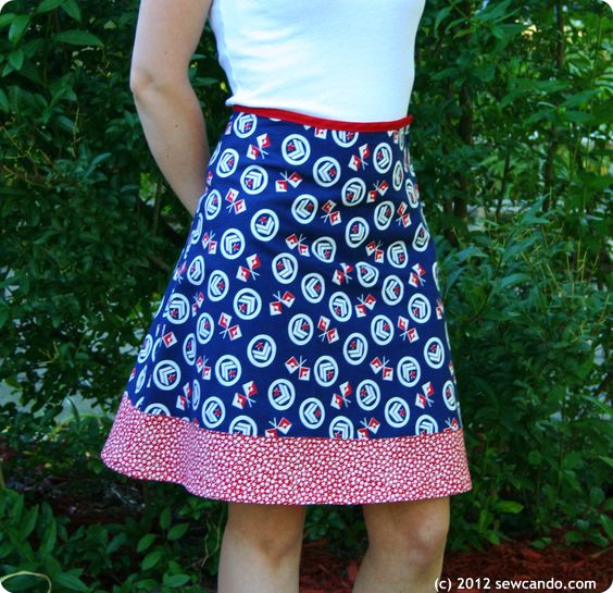 Featuring Karen Snyder's Red, White and True Blue collection  -- Sew Can Do: Sewing for Myself: Book Review For Sew What! Skirts