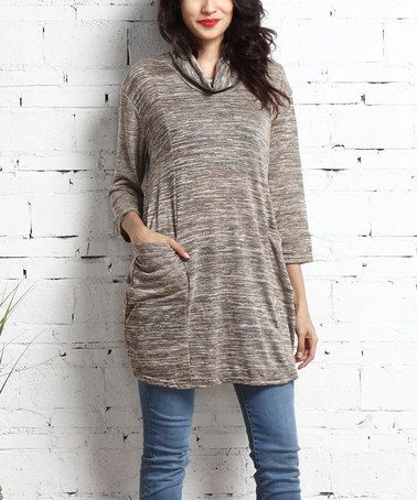 Another great find on #zulily! Oatmeal Mélange Convertible Pocket Tunic #zulilyfinds