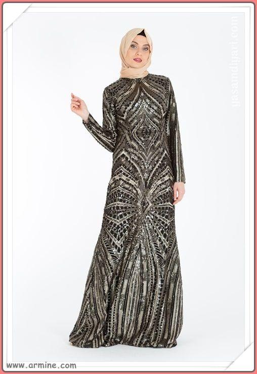 Armine Tesettur Abiye Modelleri 2019 Lookbook Elbise Modelleri Maksi Elbiseler Elbise