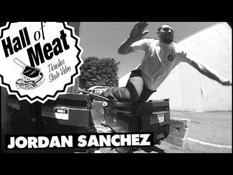 Hall Of Meat: Jordan Sanchez - http://dailyskatetube.com/hall-of-meat-jordan-sanchez/ - https://www.youtube.com/watch?v=DuqvyCzsiPw&utm_source=dlvr.it&utm_medium=feed Source: https://www.youtube.com/watch?v=DuqvyCzsiPw Lennie Kirk and Jamie Thomas each had infamous dumpster slams. Here's Jordan showing how these bins can eat you alive.  Keep up with Thrasher Magazine h - hall, jordan, meat, sanchez