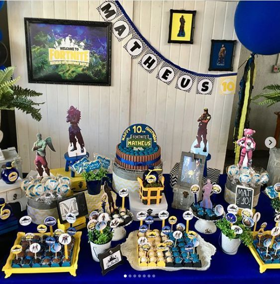Fortnite Ideas Para Un Cumpleaños De Fortnite Una Bruja Diseños Video Games Birthday Party Birthday Party Planning 7th Birthday Party Ideas