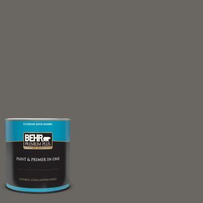 Behr Premium Plus 1 Qt Ppu24 03 Chinchilla Satin Enamel Exterior Paint And Primer In One In 2020 Behr Premium Plus Behr Exterior Paint