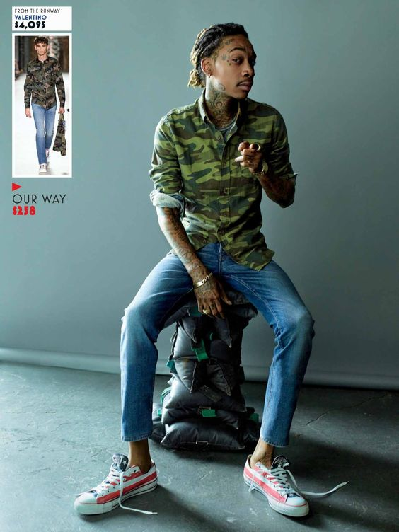 WIZ KHALIFA MIMICS THE BEST SPRING/SUMMER 2016 RUNWAY LOOKS IN RECENT GQ PHOTO SHOOT | CreativeGentleman