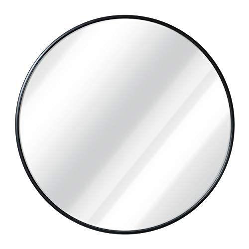 Black Round Wall Mirror 24 Inch Large Round Mirror Rus Https Www Amazon Com Dp B07knyqfnk Ref Cm Sw R Large Round Mirror Black Round Mirror Mirror Wall