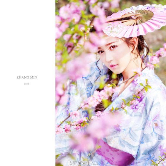 Kimono Japan girl Flowers