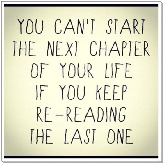 Close that chapter or the entire book better yet.