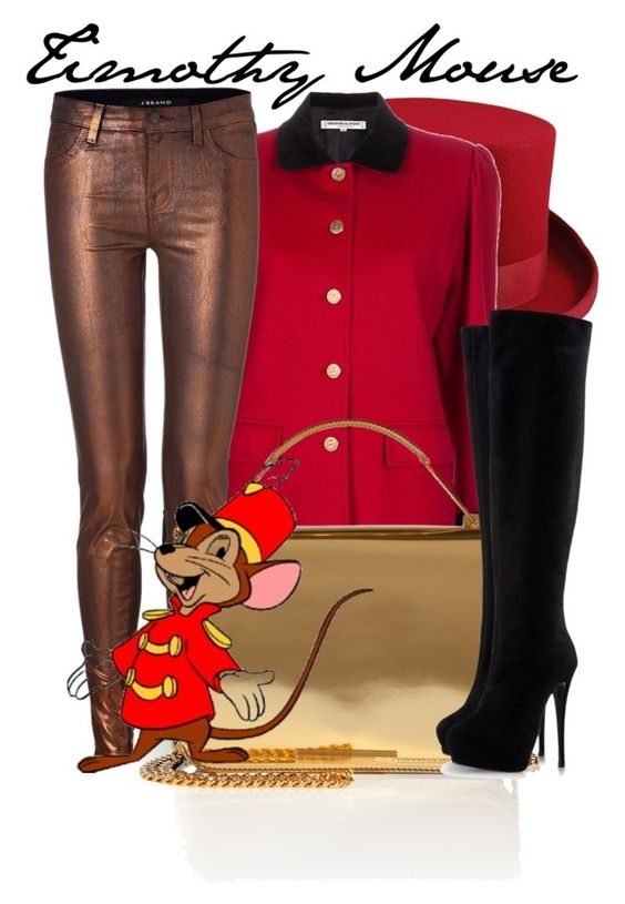 """""""Timothy Mouse"""" by niennamarie ❤ liked on Polyvore featuring Christys', Yves Saint Laurent, J Brand, Emilio Pucci, Disney and Giuseppe Zanotti"""