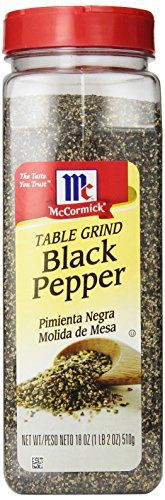 McCormick Black Ground Table Pepper, 18-Ounce - http://spicegrinder.biz/mccormick-black-ground-table-pepper-18-ounce/