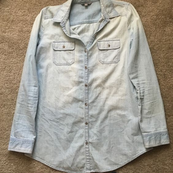 Nordstrom denim button down Nordstrom denim button down. Rubbish Tops