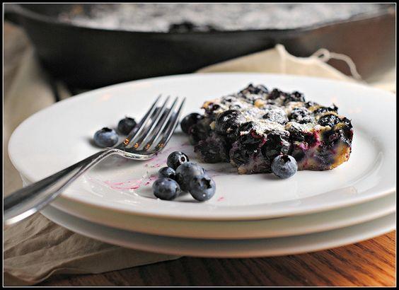 Lemon Blueberry Clafoutis: Eat Baking, Blueberryclafoutis, Desserts Fruit, Lemon Blueberry, Em Gee, Healthier Eats
