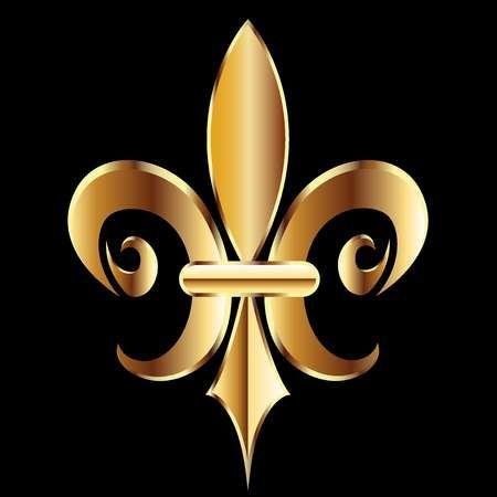 Gold Fleur De Lis Flower New Orleans Symbol Logo Template New Orleans Saints Symbol New Orleans Symbol Logo