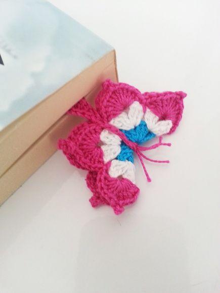 Marcador de Páginas Em Crochê Borboleta