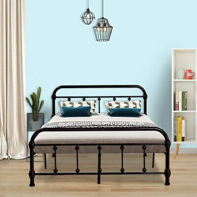 Full Size Metal Bed Frame Bedroom Platform Mattress Foundation W