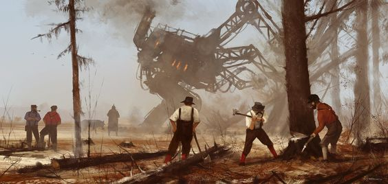 1920 - machine over muscle, Jakub Rozalski on ArtStation at https://www.artstation.com/artwork/V23k4