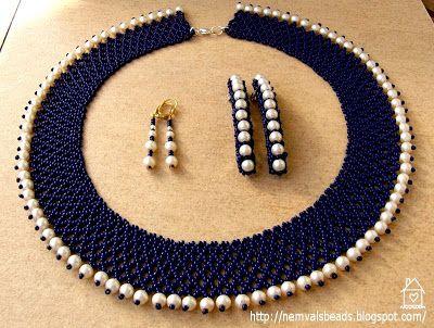 NemVal gyöngyei: Egyszerű teklás gyöngygallérok