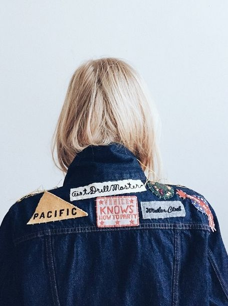 Trucker Jacket by us, final touches by @kklimova. #LiveInLevis: