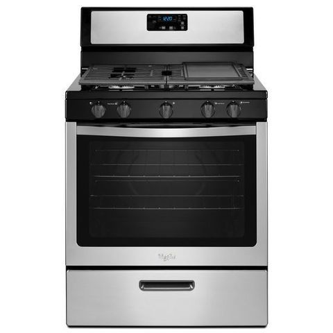 Whirlpool 5 Burners 5 1 Cu Ft Freestanding Gas Range Stainless