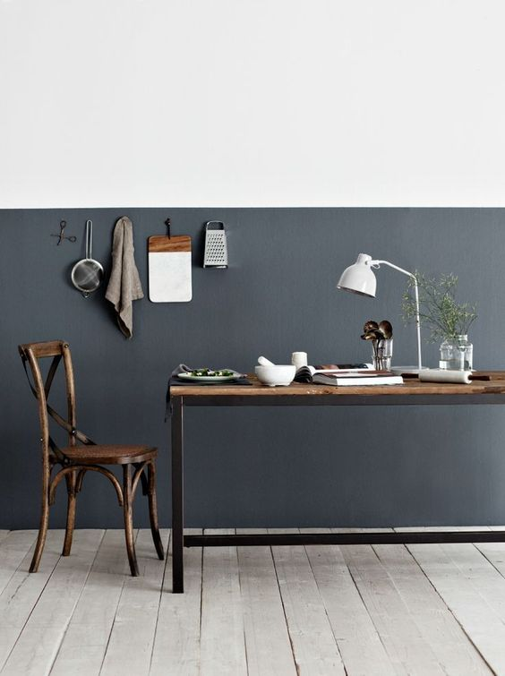 Half painted walls painted walls and scandinavian interior design on pinterest - Half wall interior design ...