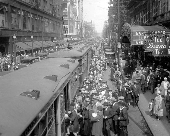 Blast from the Past! Toronto Yonge Street Streetcar, 1929. #Toronto #History #Vintage