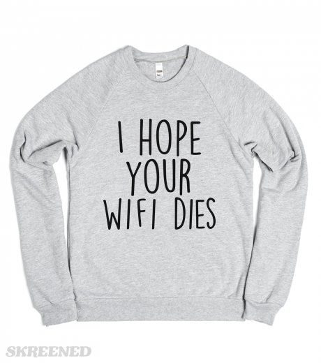 The perfect shirt to wear around your worst enemies.  Printed on American Apparel Unisex Crew Neck Sweatshirt