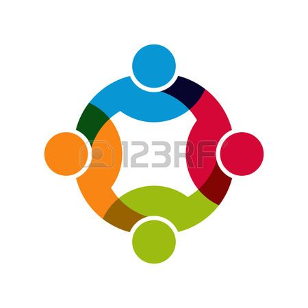 Social Network, Group of 4 people business men. Stock Vector - 35209093