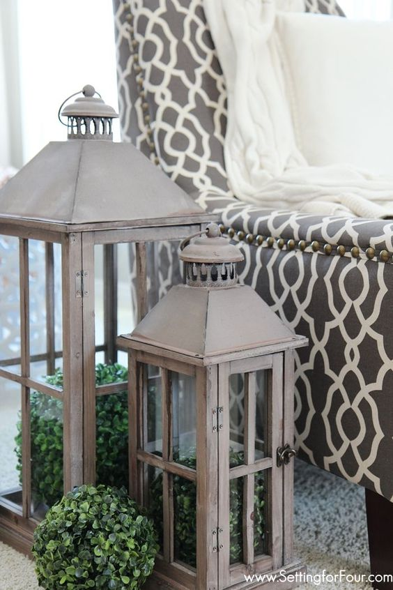 Spring Home Tour Lantern decorations Spring and Inspiration