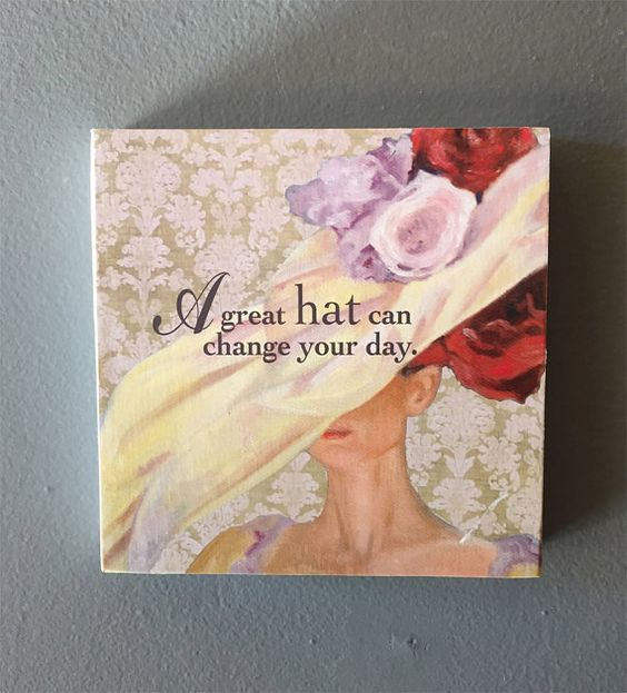 Hat plaque by LynnNeuman on Etsy