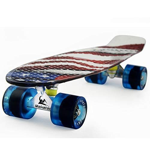 Meketec Skateboards Kids Mini 22 Inch Cruiser Beginner Skateboard