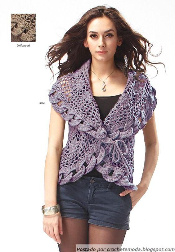 Crochetemoda: Casaqueto Circular de Crochet: