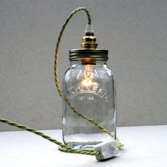 bespoke kilner jar table lamp by unique's | notonthehighstreet.com