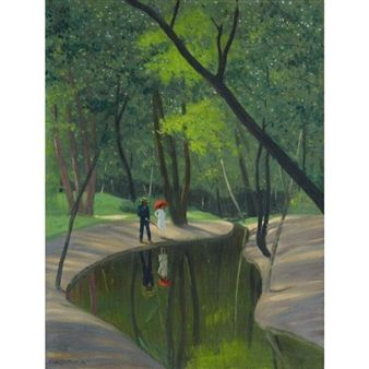 FOREST OF BOULOGNE By Félix Vallotton ,1919