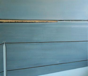 """Brücke Malerei auf Leinwand Realistisch Landschaft Saatchi Online Artist Karoline Kroiss; Painting, """"Bridge """" #art"""