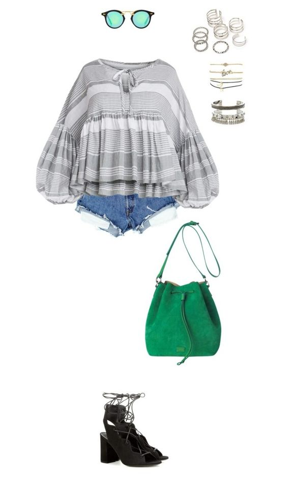 """""""929"""" by julialeskiv ❤ liked on Polyvore featuring Yves Saint Laurent, BCBGeneration and Charlotte Russe"""