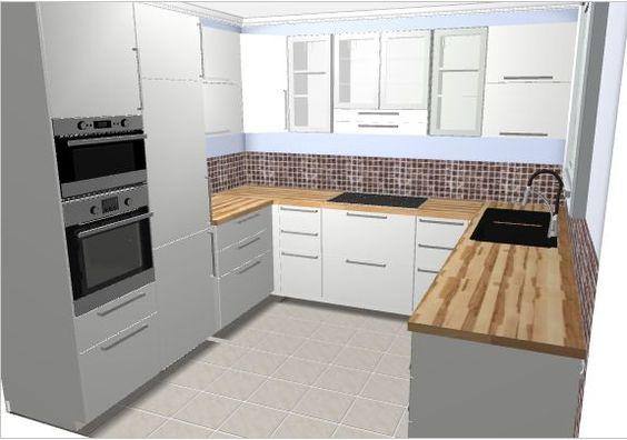 u-form küche schwarzer Granit und weißer Lack | Küchen | Pinterest ... | {Küchenideen u form 16}
