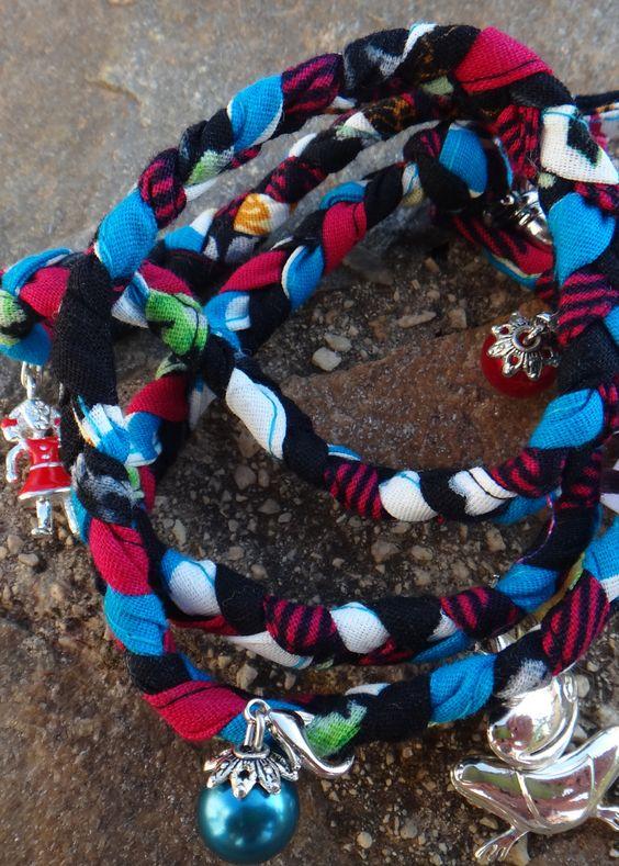 Funny Wickelarmband –  Never ever without Geflochtene Baumwollarmbänder in verschiedenen Designs und Anhängern  http://kissedbystyle.de/shop-2/accessoires/funny-wickelarmband/