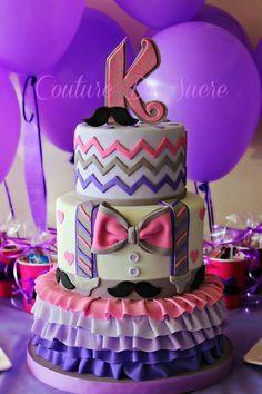 Mustache Birthday Cakes for Girls | Mustache cake