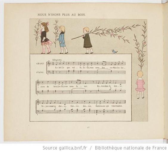 Vieilles chansons et rondes pour les petits enfants, notées avec des accompagnements faciles / par Ch. M. Widor ; Illustrations de M. Boutet de Monvel - 34
