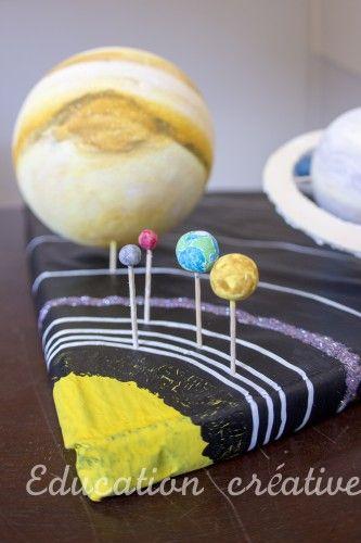 Maquette du système solaire - solar system diorama