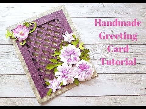 Beautiful Handmade Greeting Card For Birthday Anniversary