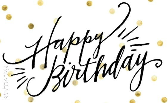 Happy birthday calligraphy style hand lettering