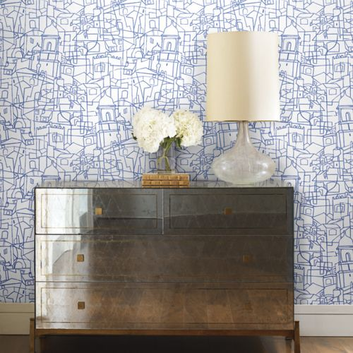 Cubist Cityscape Peel And Stick Wallpaper By York Lelands Wallpaper Peel And Stick Wallpaper Temporary Wallpaper Wallpaper