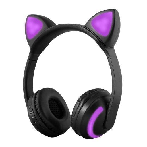 Sluchawki Bezprzewodowe Bluetooth Swiecace Uszy 7804454433 Oficjalne Archiwum Allegro Fone De Ouvido Bluetooth Fone De Ouvido Gatinho Fones De Ouvido Sem Fio