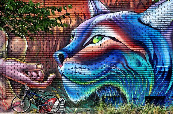 Street art on Rue Rachel Montreal Canada [2048 x 1360] [OC]. wallpaper/ background for iPad mini/ air/ 2 / pro/ laptop @dquocbuu