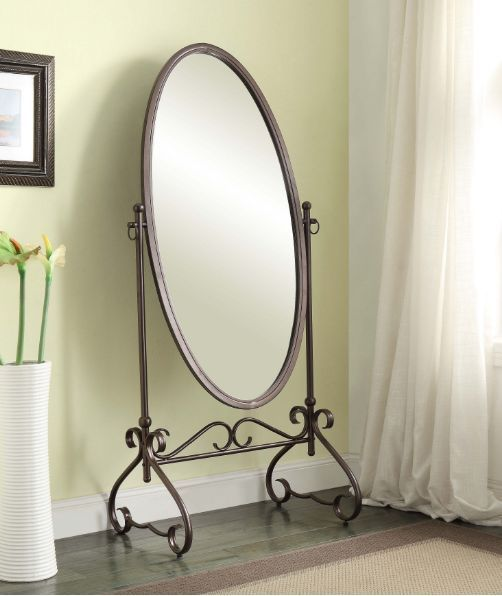 Free Standing Mirror Full Length Antique Oval Cheval Floor Big