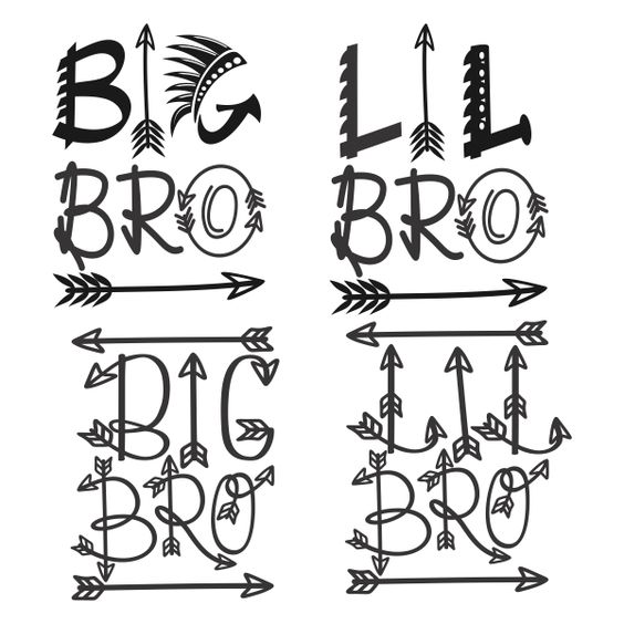 big and little brother svg cuttable designs